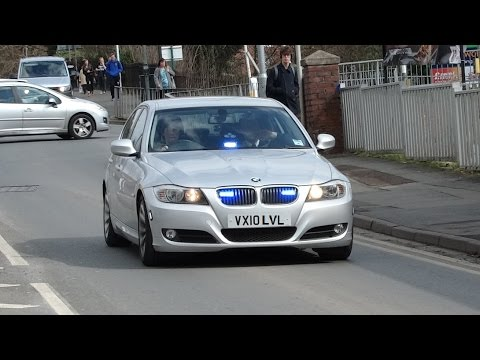 Unmarked Police Bmw 330d On A Lights And Sirens Run West Mercia