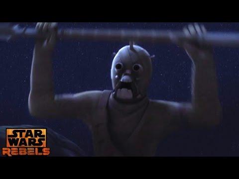 Star Wars Rebels: Tusken Raiders Attacks Ezra & Chopper