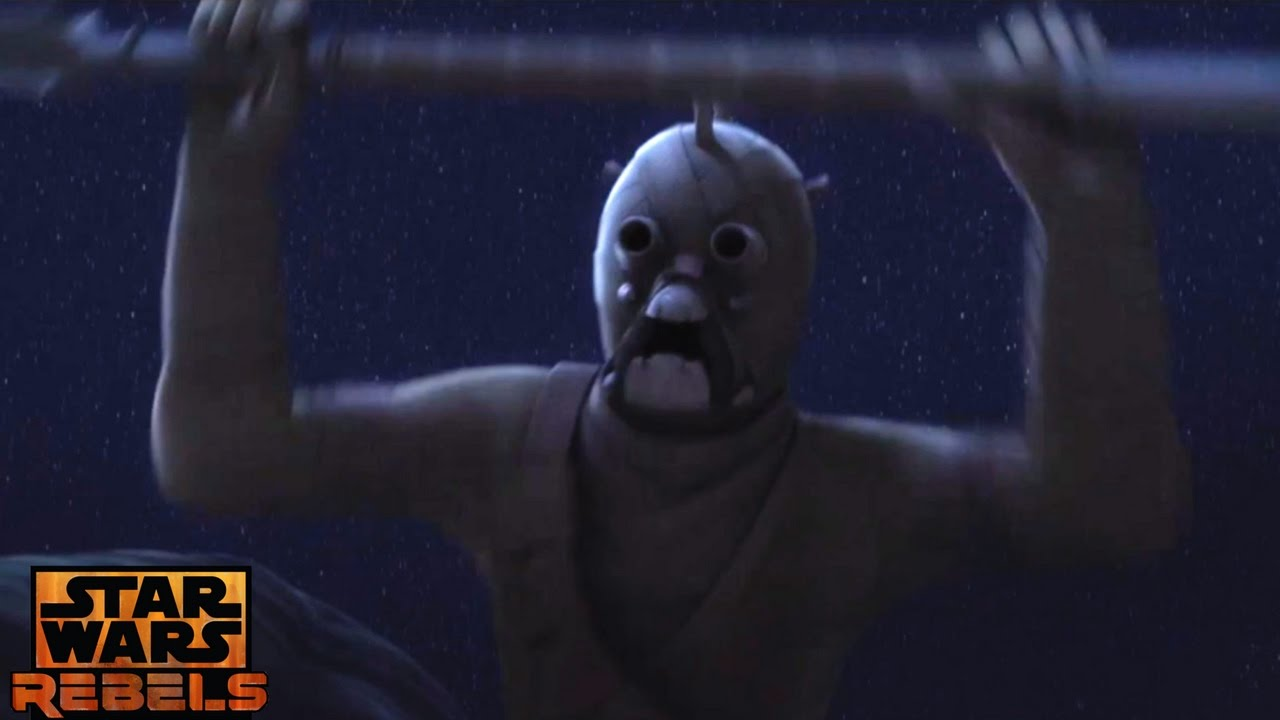 Star Wars Rebels Tusken Raiders Attacks Ezra Chopper Youtube