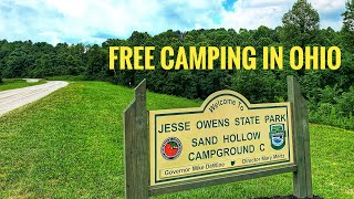 Free Camping at Sąnd Hollow CG, Jesse Owens State Park, OH