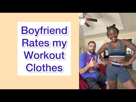 Boyfriend rates my workout clothes #oyssports haul review