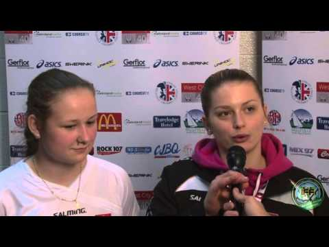 Women's U19 WFC 2016 - LAT v SVK - Post Game Interviews