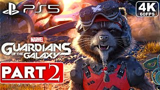 MARVEL'S GUARDIANS OF THE GALAXY PS5 Gameplay Walkthrough Part 2 FULL GAME [4K 60FPS] No Commentary