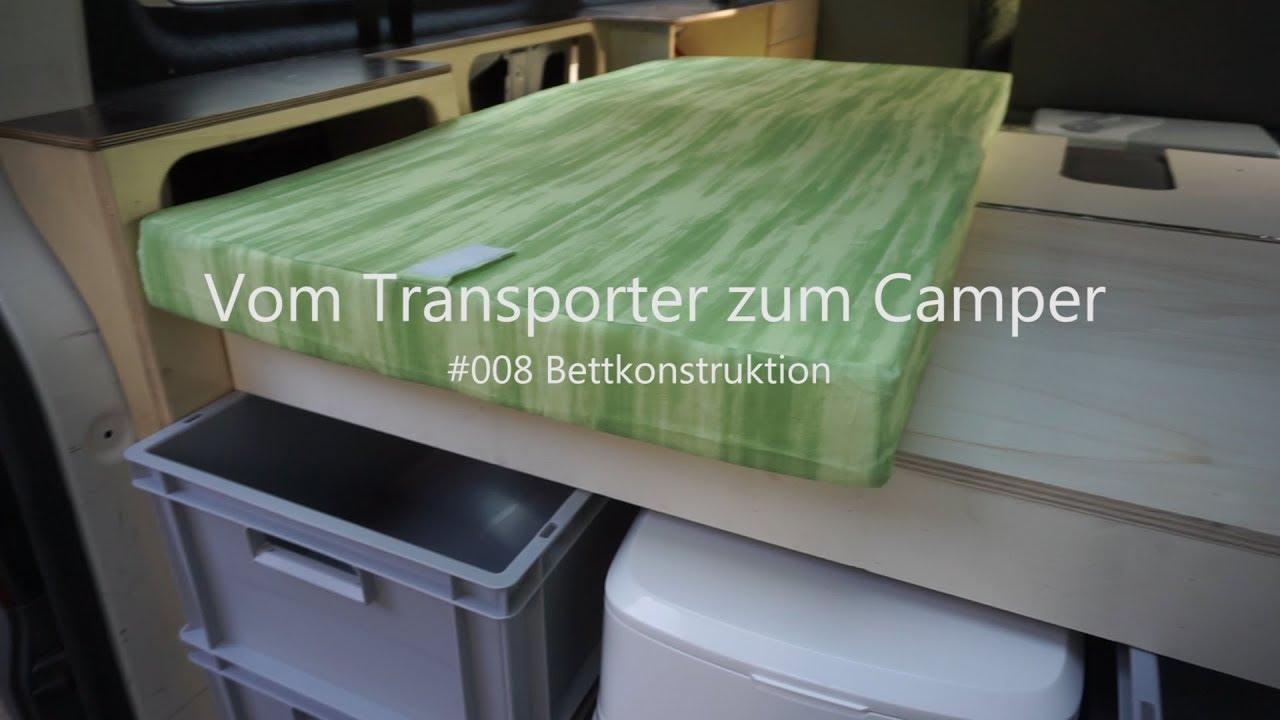 vw t5 vom transporter zum vanlife camper umbau innenausbau bettkonstruktion 009 youtube. Black Bedroom Furniture Sets. Home Design Ideas