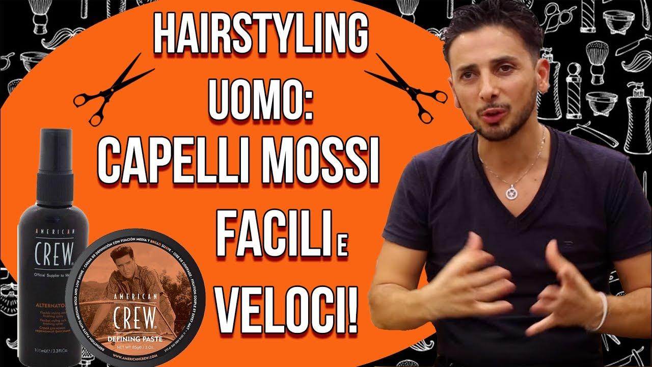 Hairstyling Uomo Capelli Mossi In Tre Semplici Passaggi Youtube