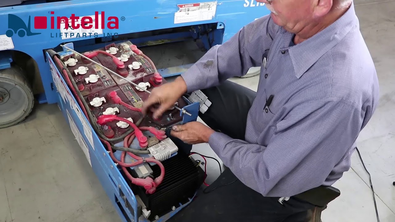 How to replace a Genie 105739 scissor lift battery charger  YouTube