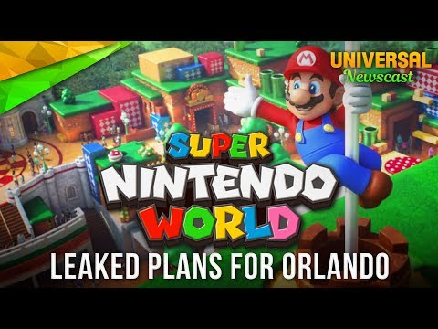 Orlando's Super Nintendo World Leaked! - Universal Studios News 06/24/2017