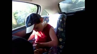 3 years old kid Reno sings Battle Hymn by Manowar during cardrive Corsica, funny this kid rocks