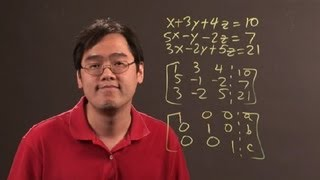 how to solve 3 equations with 3 unknowns in linear algebra algebra lessons
