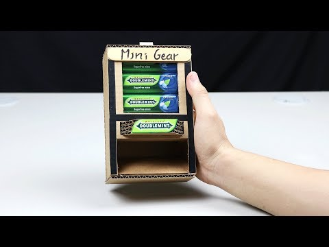 How to Make DOUBLEMINT Mini Vending Machine - Very Simple