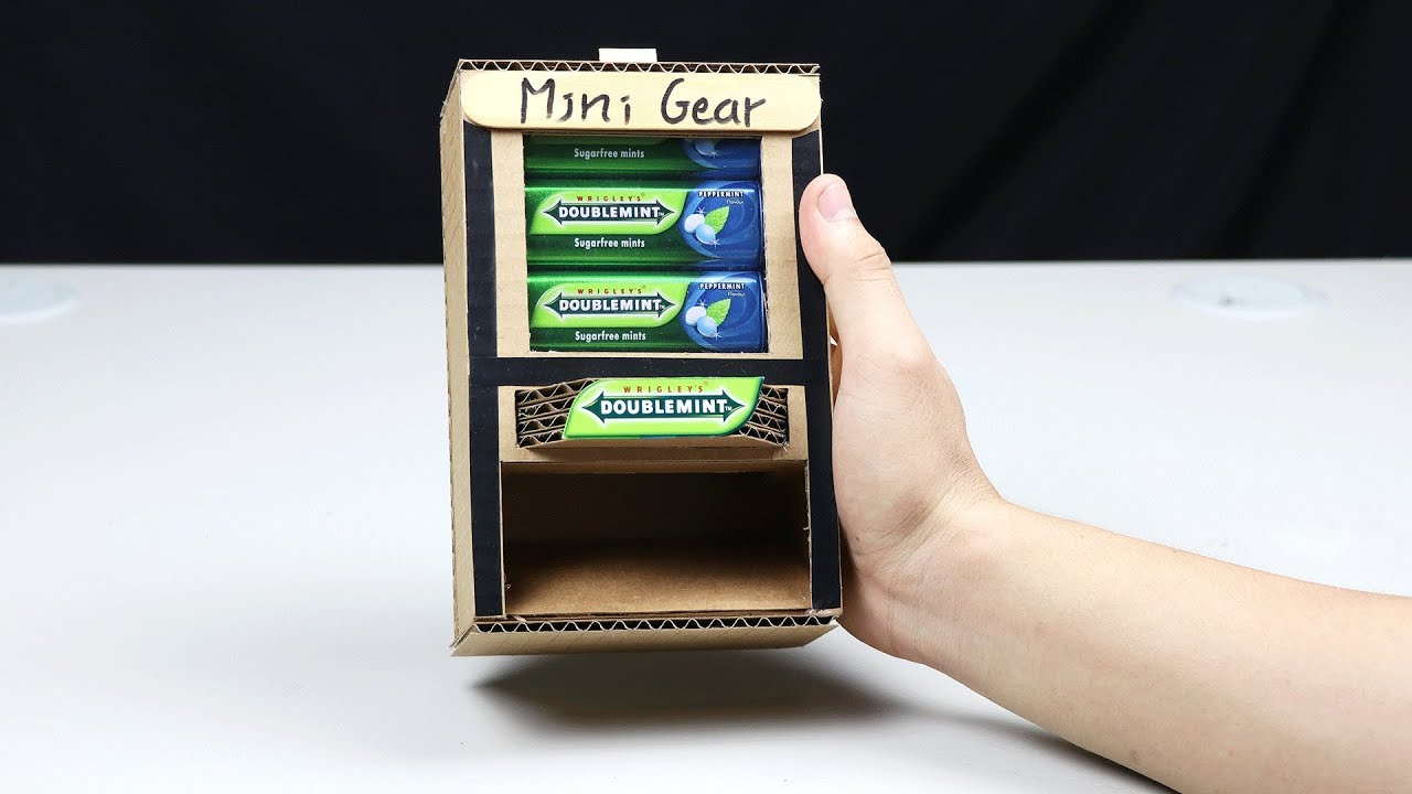 How to Make DOUBLEMINT Mini Vending Machine - Very Simple - YouTube