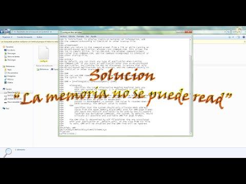 [Solucion] La memoria no se puede read