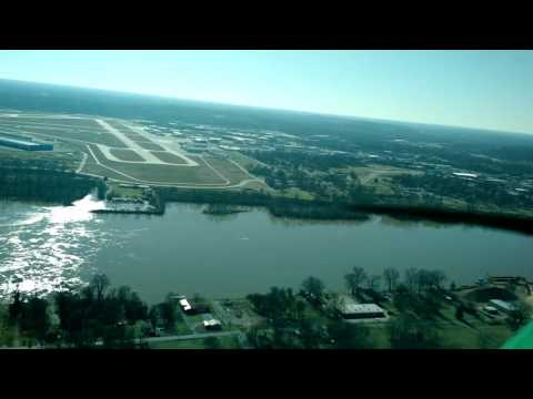 Landing at Little Rock Arkansas