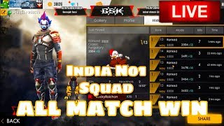 GARENA FREE FIRE LIVE || BOOYAH SQUAD RANK 4000+ || INDIA #GSK
