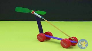 How to make a simple rubber band car