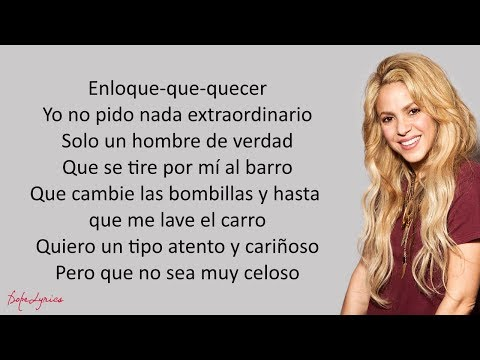Shakira - Perro Fiel (Lyrics) Ft. Nicky Jam