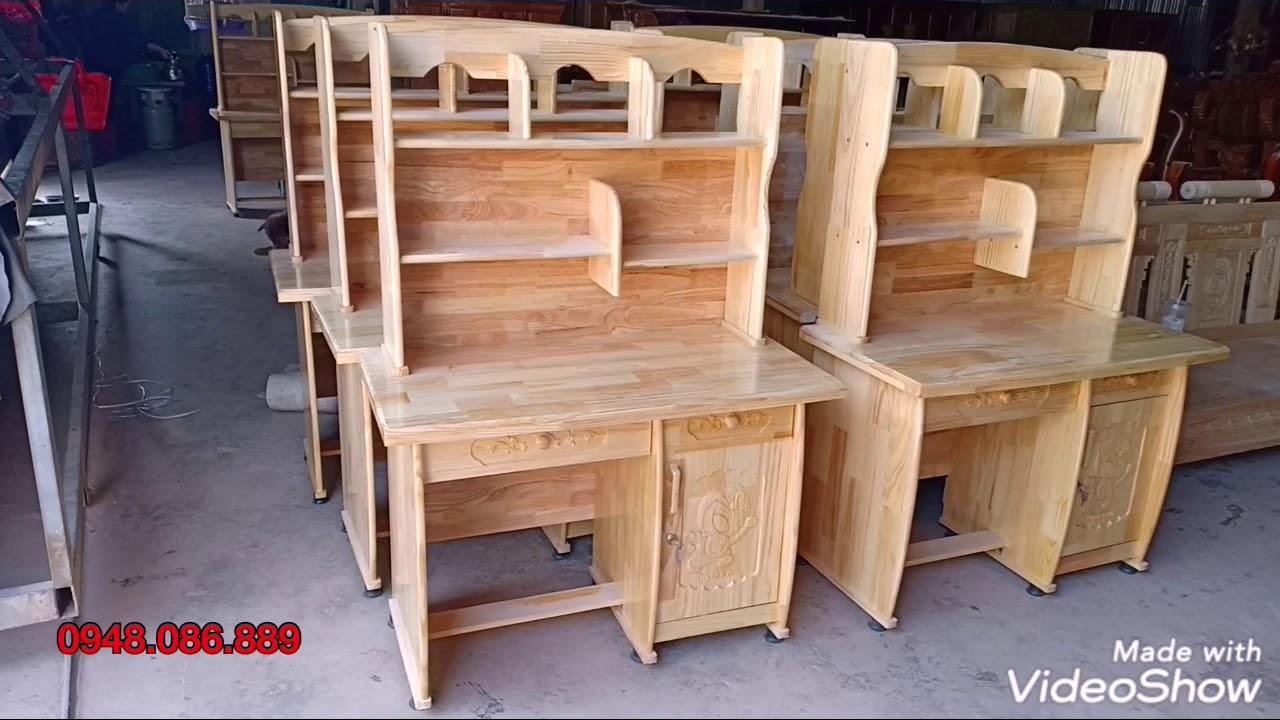 Bàn học sinh gỗ thông ghép – Student desk for pine wood