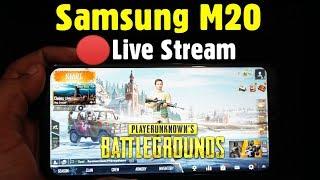 SAMSUNG M20 Pubg Mobile Live Stream Game Play