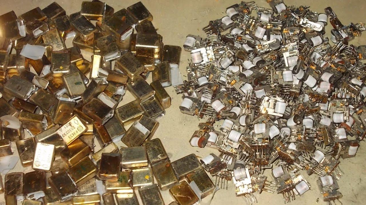 в каких радиодеталях содержится золото фото правильно дозировать количество