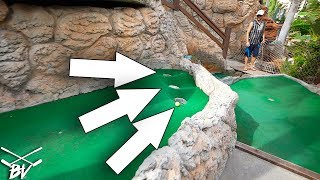I HAVE NEVER SEEN A CRAZY MINI GOLF HOLE DO THIS + BACK TO BACK HOLE IN ONE!