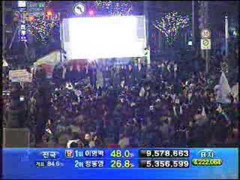 2007 12.19 Korean New President Elected MB Lee
