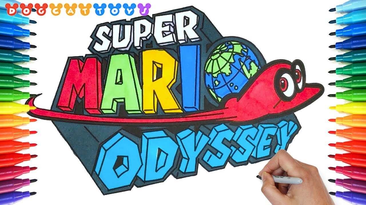 How To Draw Super Mario Odyssey Logo 149 Drawing