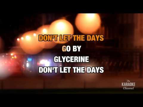 Glycerine in the style of Bush | Karaoke with Lyrics