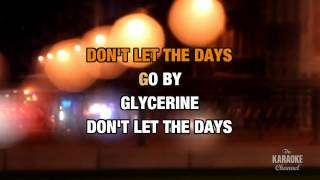 Glycerine in the style of Bush | Karaoke with Lyrics