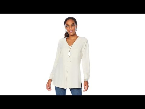 5eacade788889 MarlaWynne Stretch Crepe Front Pocket Tunic - YouTube