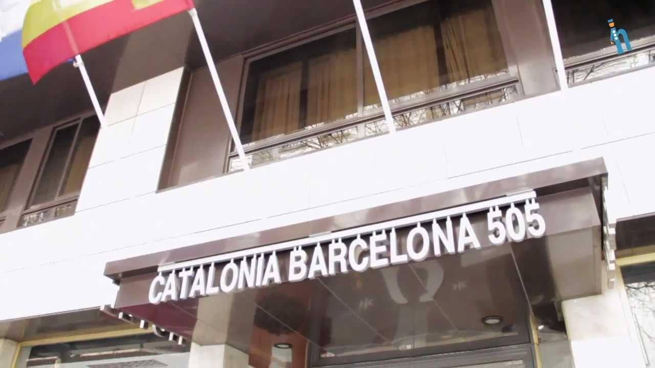 barcelona hotel catalonia barcelona 505 youtube. Black Bedroom Furniture Sets. Home Design Ideas