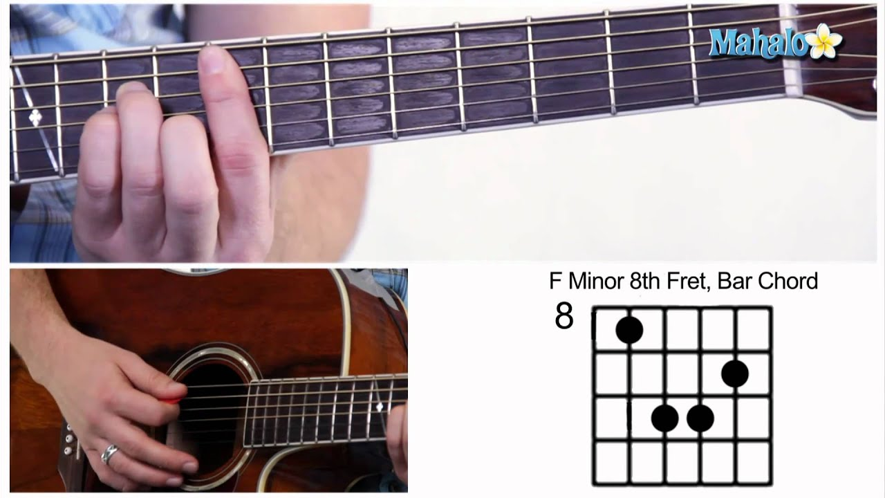 How to play an f minor fm bar chord on guitar 8th fret youtube how to play an f minor fm bar chord on guitar 8th fret hexwebz Gallery