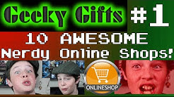 10 AWESOME Nerdy Online Shops! - Geeky Gifts Episode 1