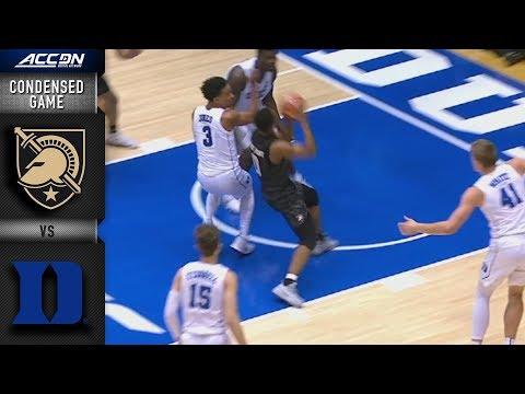 Army vs Duke Condensed Game | 2018-19 ACC Basketball
