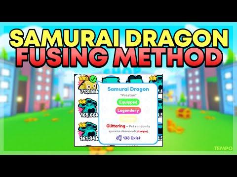 How To Get Golden Samurai Dragon From Fusing! 🔥INSANE METHOD!🔥  ROBLOX Pet Simulator X