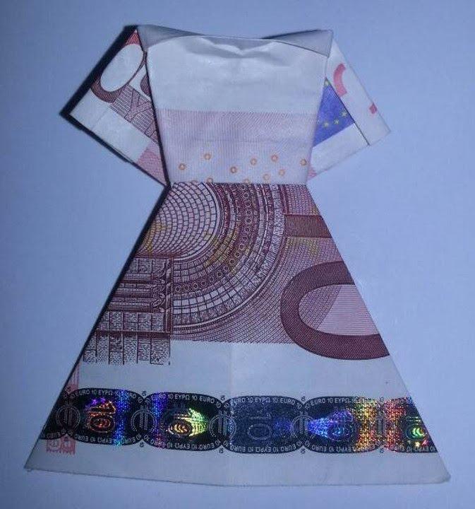 Kleid aus Geldschein falten  Geldgeschenk fr Hochzeit