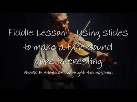 Fiddle Lesson - Sliding notes on 'Pop goes the Weasel'
