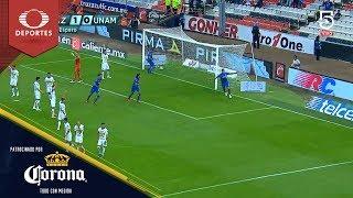 Doblete de Caraglio | Cruz Azul 2 - 0 Pumas | Clausura 2019 - J15 | Presentado por Corona
