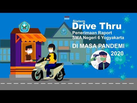 Pembagian Raport Sistem Drive Thru SMA Negeri 6 Yogyakarta