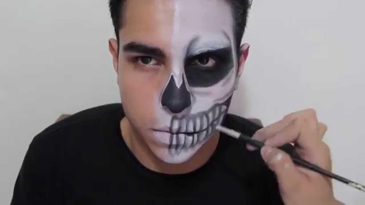 Maquillaje de Calavera para Halloween YouTube