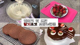 딸기랑 초코 조합 is 뭔들 딸기초코케이크 만들기| 홈…