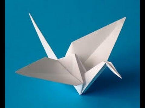 Tuto Origami Grue Oiseau Tutoriel Fr Youtube