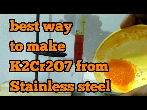 Make Potassium Dichromate from Stainless steel