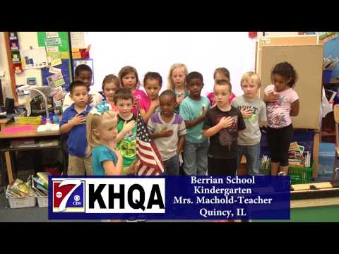 Pledge of Allegiance by Mrs. Machold's Kindergarten class at Berrian School in Quincy, IL