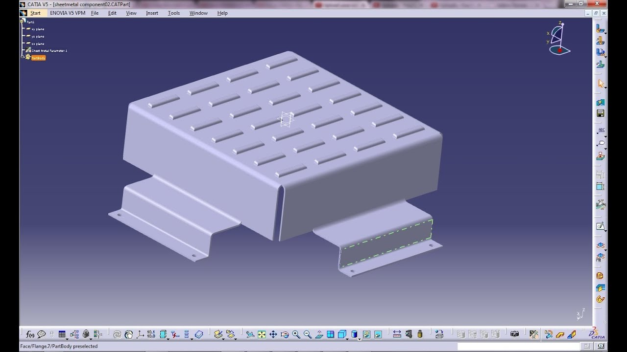 Catia V5 Tutorial Wall On Edge With Sketch Based Feature