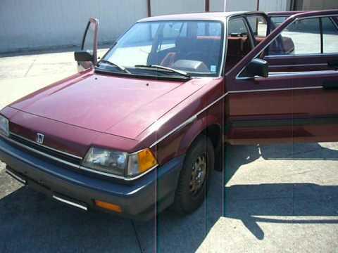1985 honda civic gl carb auto youtube for Honda civic 1985