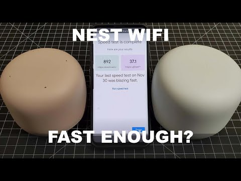 Nest WIFI Unboxing, Speed Test and First Impressions