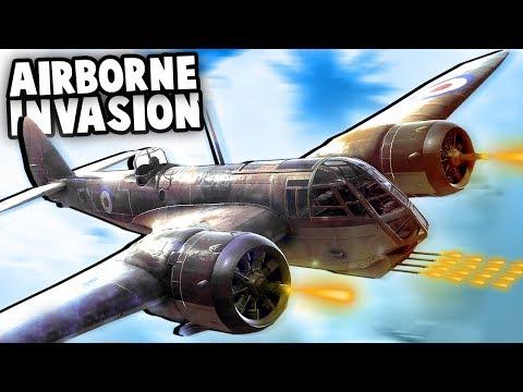 MASSIVE Airborne Invasion!  Paratroopers vs Defenses (Battlefield V Multiplayer Gameplay)