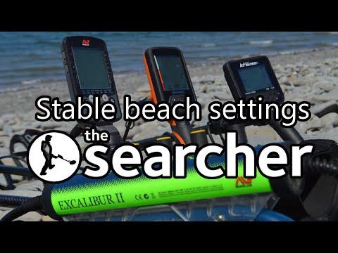 Saltwater metal detecting, stable settings