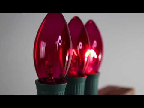 Pink C9 Twinkle Bulbs   Incandescent