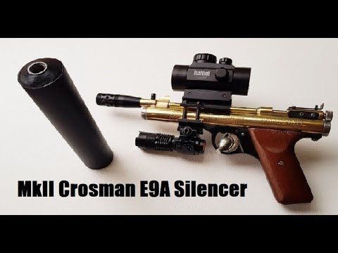 MKII new & improved NON FAC airgun silencer/moderator Crosman E9A Benjamin  Sheridan EB22